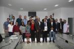 Fotos com vereadores e representantes da FASJ
