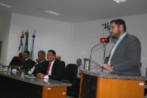 Vilmar Ferreira representou o prefeito Paulo Bonfim na sessão de abertura