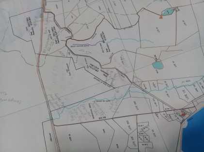 Mapa da área a ser reintegrada