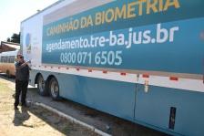 Vereador Zé Carlos Borges no Caminhão da Biometria